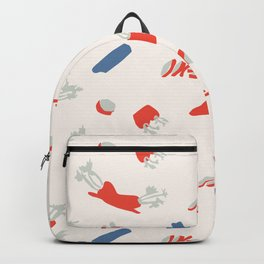 Minimal retro pattern with carrot&celery Backpack