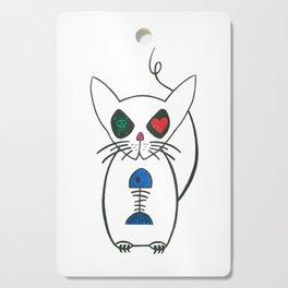 crazy kitty Cutting Board