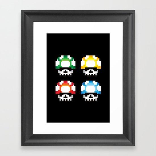 Skull Mushroom Framed Art Print