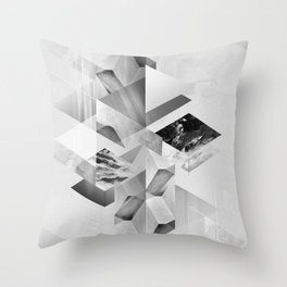 geometric woman III Throw Pillow
