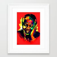 mandela Framed Art Prints featuring Mandela by abinibi