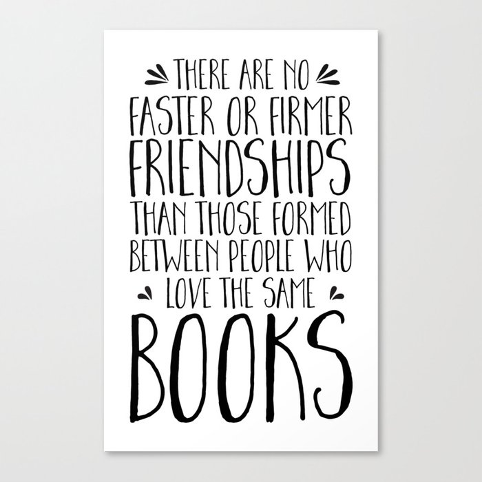 Bookish Friendships Canvas Print