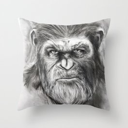 Caesar: War for the Planet of the Apes Throw Pillow
