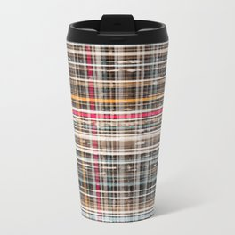 structure with red lines Metal Travel Mug