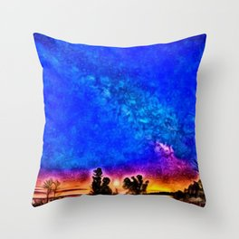 Milky Way - Dawn - Watch Hill, Rhode Island landscape painting by Jeanpaul Ferro Throw Pillow