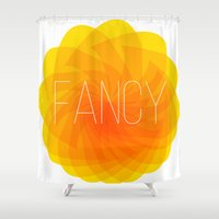 fancy Shower Curtains featuring fancy by Helmo Studio