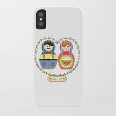 I {❤} Matryoshka Slim Case iPhone X
