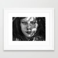 monika strigel Framed Art Prints featuring Sunshine - Monika Jasnauskaite by Junkie Juice