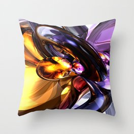 Alluring Grace Abstract Throw Pillow