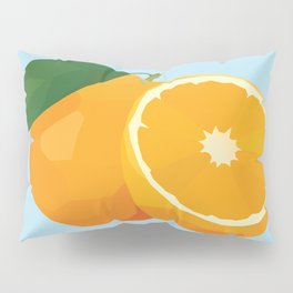 Geo Orange Pillow Sham