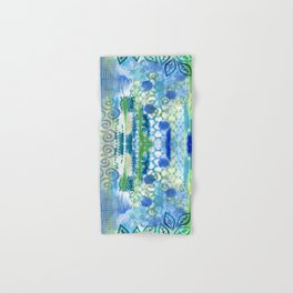 In amongst the blues and greens Hand & Bath Towel