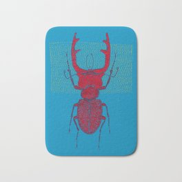 Stitches: Red stag Bath Mat