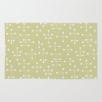 eames Area & Throw Rugs featuring Eames Era Dots 24 by Makanahele