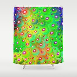 A Crash of Colors, fantasy art Shower Curtain