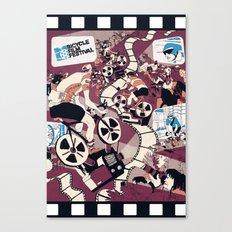 Bicycle Film Festival Canvas Print
