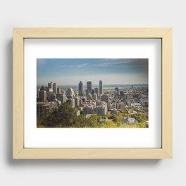 Montreal Skyline Light Recessed Framed Print