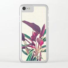 Prayer Plant Clear iPhone Case