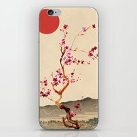 sakura iPhone & iPod Skins featuring Sakura by Ned & Ems