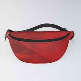 Red Polygonal Shapes Fanny Pack