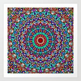 Colorful Life Garden Mandala Art Print