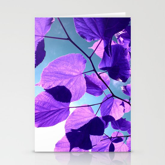 purple lime leaves I Stationery Cards