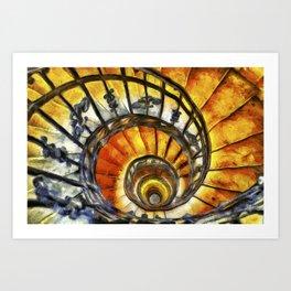 Spiral Staircase Van Gogh Art Print