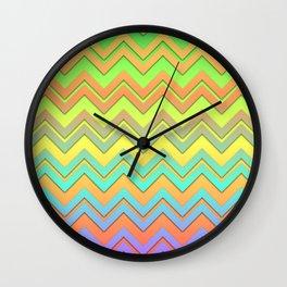 Summer Chevrons Wall Clock