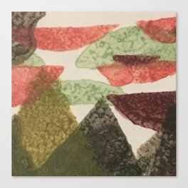 Abstract Christmas - mountain peak Canvas Print