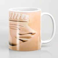 egyptian Mugs featuring Egyptian Beauty by Brian Raggatt