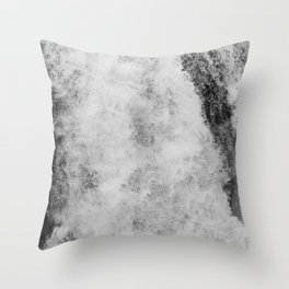 The hidden waterfall Throw Pillow