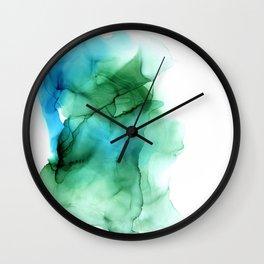 The Blue Green Sea Wall Clock