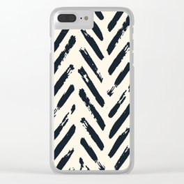 Retro Chevron Pattern 02 Clear iPhone Case