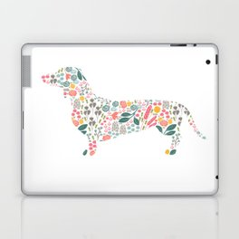 Dachshund Floral Watercolor Art Laptop & iPad Skin