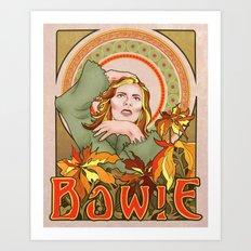 Bowie Art Nouveau Art Print
