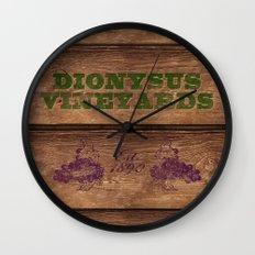 Dionysus Vineyards Wall Clock