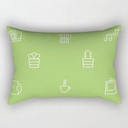 We're keen on green Rectangular Pillow