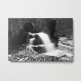 From The Stream To The Beach ~ Trevaunance Cove, St Agnes, Cornwall Metal Print