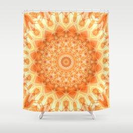 Mandala orange 2 Shower Curtain