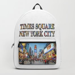 Times Square Sparkle (with typography) Backpack
