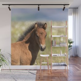 Watercolor Horse 10 Icelandic Pony, Höfn, Iceland, Com..posed Wall Mural
