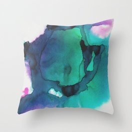 water color explosion 2 Throw Pillow