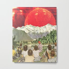 Red sun sails in the sunset Metal Print