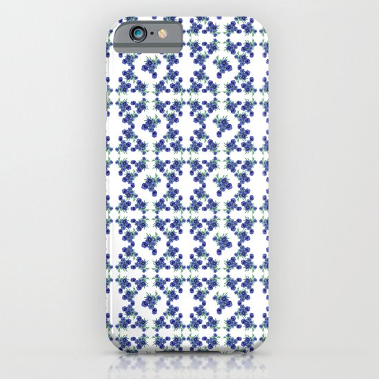 Violet Flowers Pattern iPhone & iPod Case