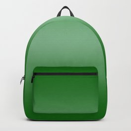 Green to Pastel Green Horizontal Bilinear Gradient Backpack