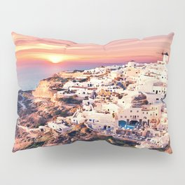Santorini Sunset View Pillow Sham