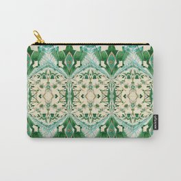 Boujee Boho Green Lace Geometric Carry-All Pouch