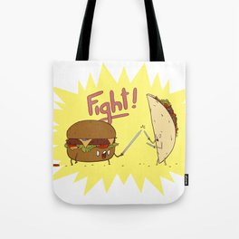 Food Fight ! Tote Bag