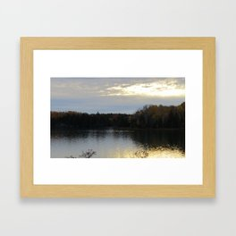 Sunset Over the Bay of Fundy Framed Art Print