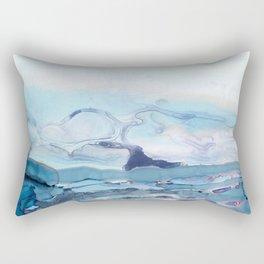 Indigo Abstract Painting | No.6 Rectangular Pillow