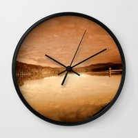 reservoir dogs Wall Clocks featuring Reservoir by Chris' Landscape Images & Designs